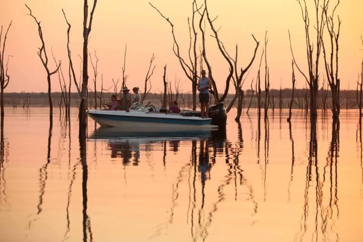 Water activities include fishing