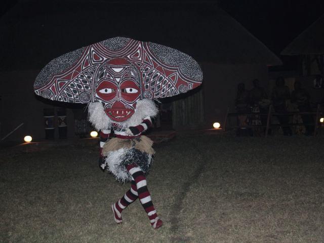 Tradtional African Dancer wearing mask