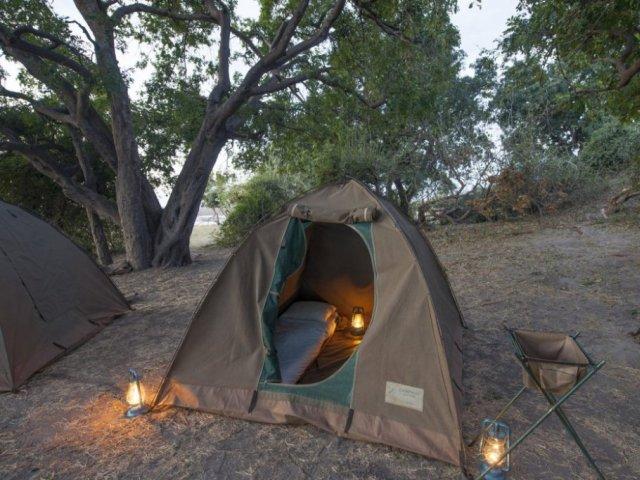 Budget camping safari accommodation