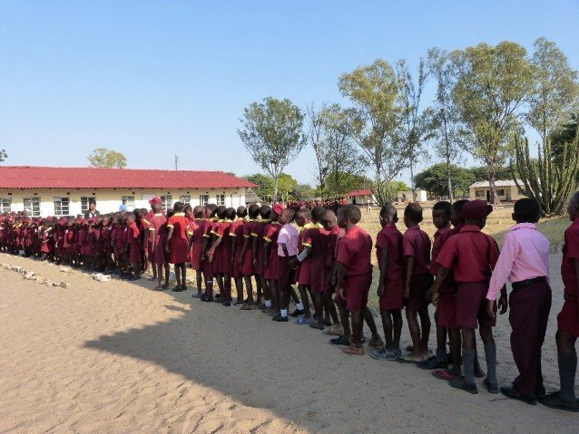 Trip to a local school in Zimbabwe