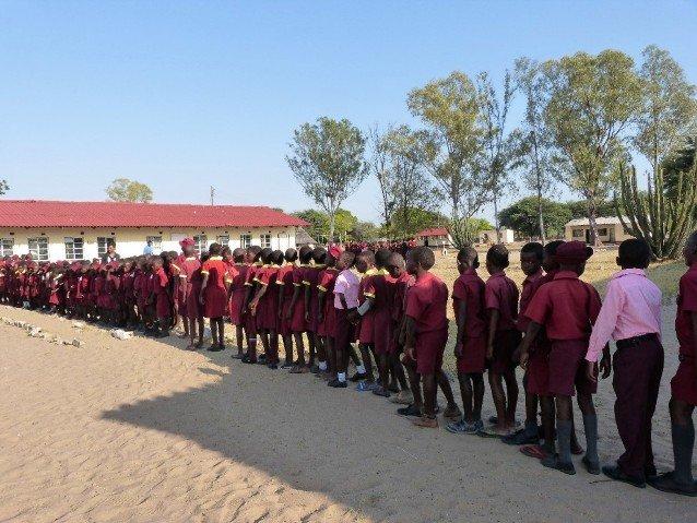 A local school in rural Hwange