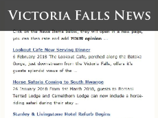 Real news stories from the Victoria Falls town, Zimbabwe