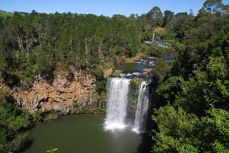 Plunge waterfall - Dangar Falls in Australia