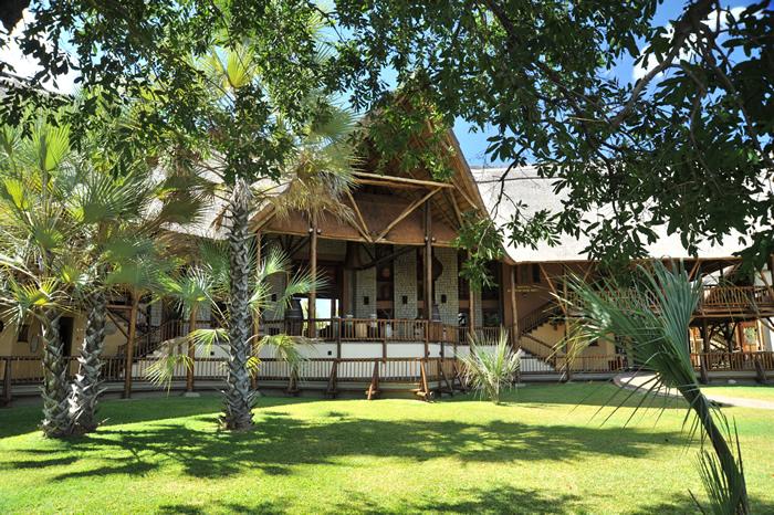 The view of the from of David Livingstone Safari Lodge & Spa in Livingstone - Victoria Falls Zambia