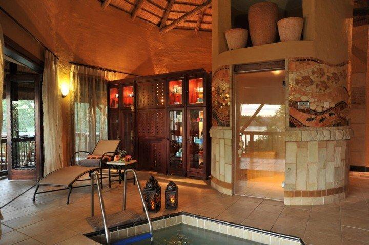 The spa sauna and thermal bath