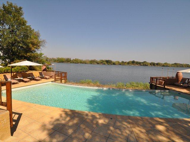 The pool right by the Zambezi River