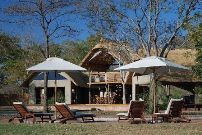 In front of the main lodge at Elephants Eye Camp - Hwange accommodation