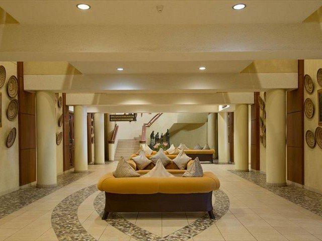 The hotel foyer