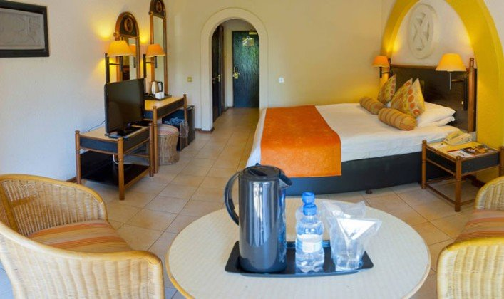 Guest room at Elephant Hills Hotel