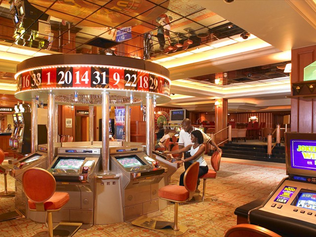 The casino inside Gaborone Sun hotel
