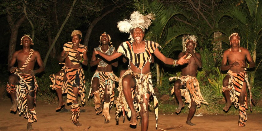 Traditional dancers at Gorges Lodge