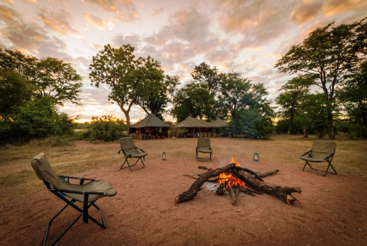 Cozy camp fires
