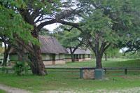 The gardens at Hwange Main Camp