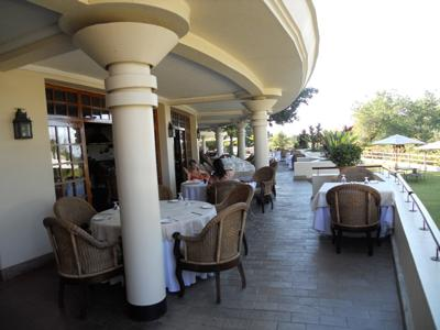 The terrace at Ilala