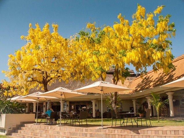 The terrace at Ilala Lodge