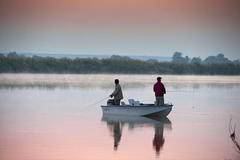 Fishing on the Zambezi River