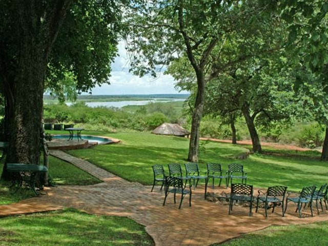 Tranquil environment with the Zambezi River in sight