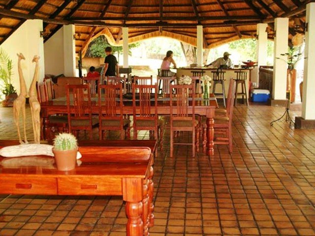The bar and lounge of the main lodge