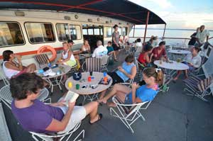Guests on the Kariba Ferry on Lake Kariba