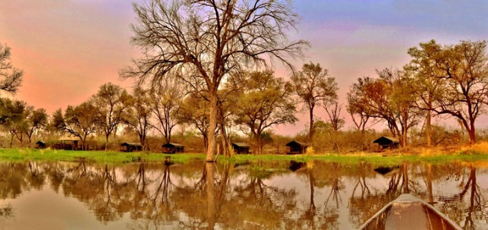 Quiet tented camp on the Khwai