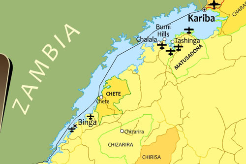 Map of Lake Kariba