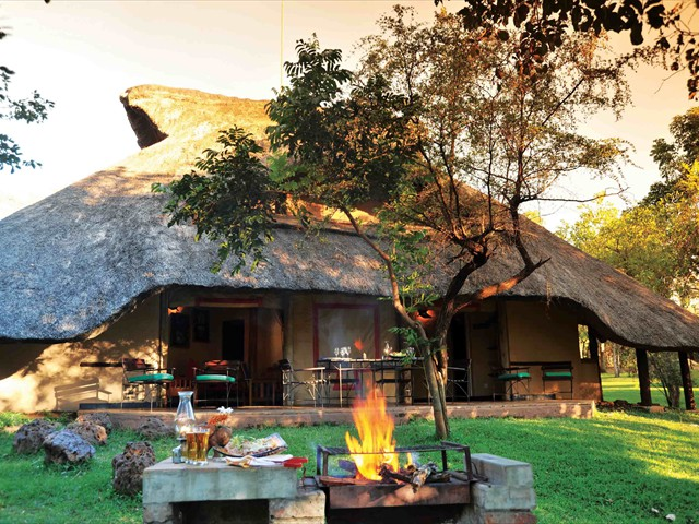 Comfortable Lokuthula Lodges with self-catering facilities. Get a packaged dealincluding flights plus accommodaion