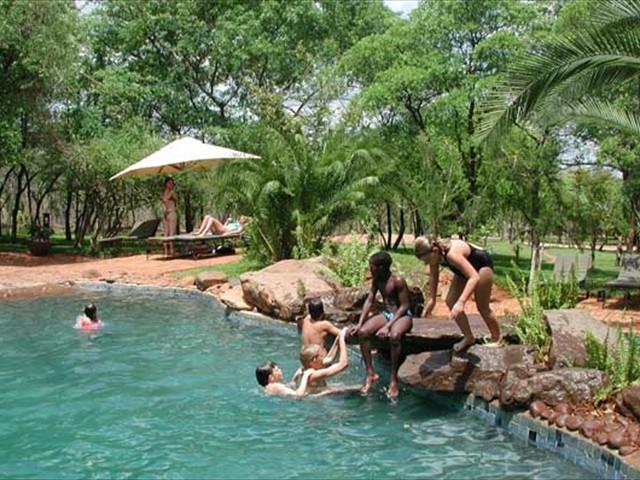 The swimming pool at Lokuthula