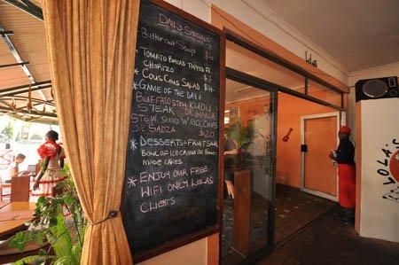 Specials menu at Lola's