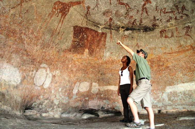 Cave paintings from thousands of years ago