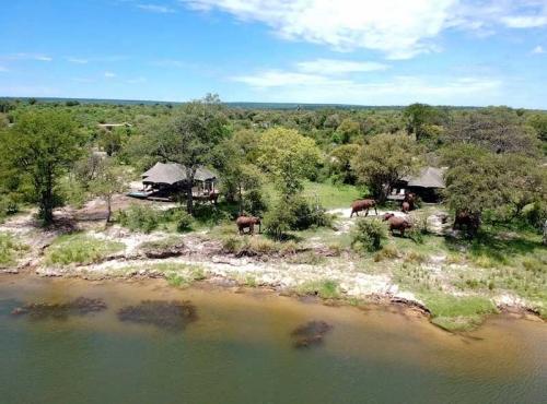 Old Drift Lodge in the Zambezi National Park near Victoria Falls, Zimbabwe