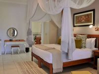 Inside a double room at Batonka Guest Lodge in Victoria Falls, Zimbabwe