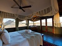 Guest room at Camp Hwange in Hwange National Park, Zimbabwe