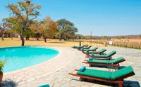 The pool at Hwange Safari Lodge near Hwange National Park, Zimbabwe