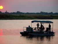 River cruise on the Zambezi from Imbabala Safari Lodge, Zimbabwe