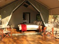 Tented and self-catering Kapula Camp in Hwange National Park, Zimbabwe