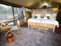 Safari rooms at Little Makalolo Camp, Hwange National Park, Zimbabwe