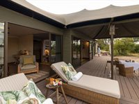 Beautiful tented suites at Old Drift Lodge near the mighty Victoria Falls, Zimbabwe