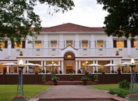 The historic Victoria Falls Hotel in Zimbabwe is an experience on it's own.