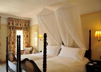 Romantic vintage rooms at Victoria Falls Hotel in Zimbabwe
