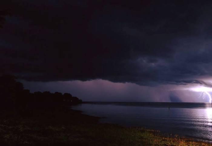 April evening storms in Kariba