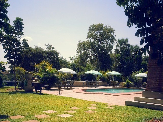 The pool area in the campsite