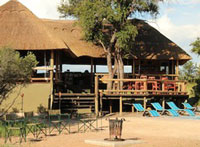 The front of the main lodge at Nehimba - Hwange accommodation
