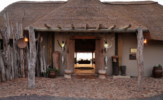 The entrance at Ngoma Safari Lodge