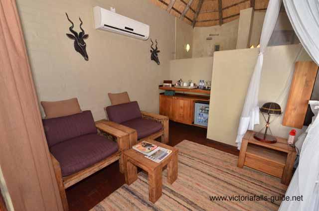 Tea and coffee area inside the safari suite