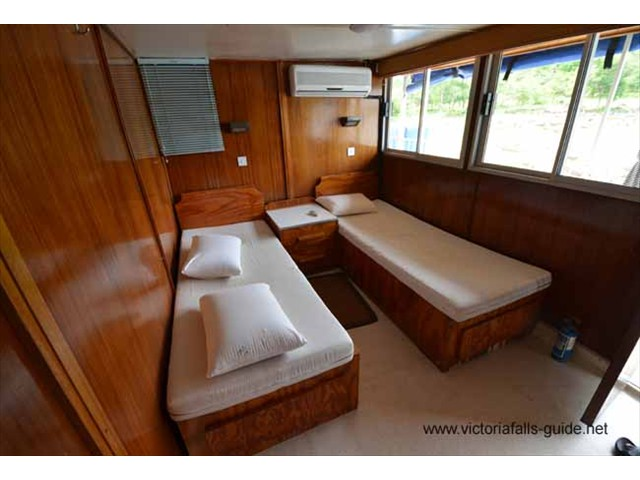 Wood panelled, air-conditioned and comfortable bedrooms