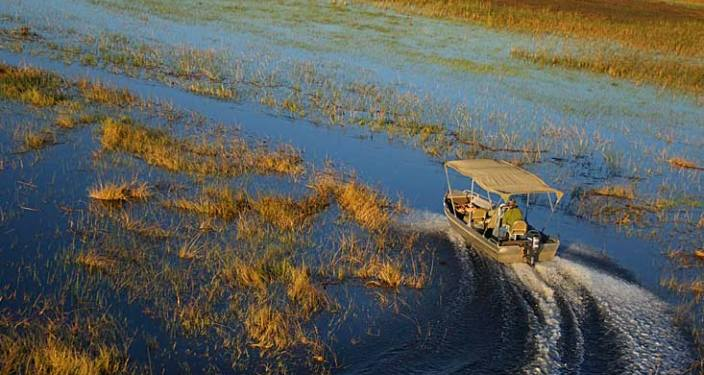 Flooding delta in the dry season