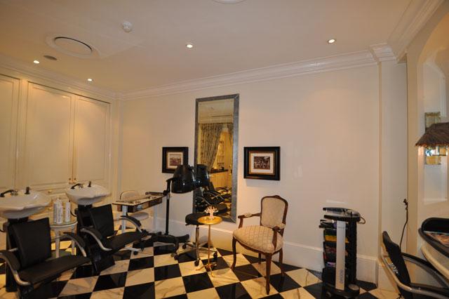 The hair salon and spa at The Royal Livingstone