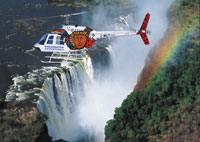 A helicopter flight over the Victoria Falls and Zambezi River