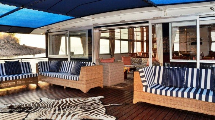 Spacious chill area on the top deck