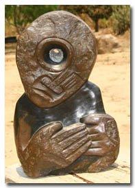 Brown Serpentine carving